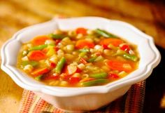 A Really Nice and Healthy Vegetarian Minestrone Soup Recipe: Vegetarian minestrone soup