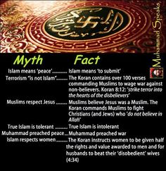 myths/facts about Islam NOTE: Please do not bother to tell me it is a lie. Save your time and mine.