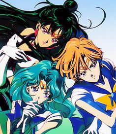 Sailor Pluto, Sailor Neptune and Sailor Uranus