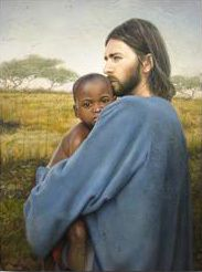 This picture is very close to my heart. I have a big one hanging on my wall, and one in my adopted african american sons room.  This is him with jesus.