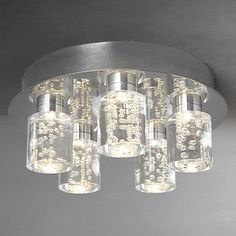 Buy John Lewis Giovanni Bubble Flush LED 5 Ceiling Light Online at johnlewis.com