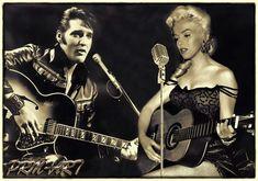 Marilyn Monroe & Elvis Presley