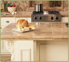 Ceramic Tile Countertops Kitchen