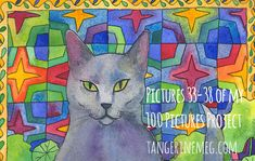 Pictures 33 to 38 of my 100 Pictures Project - Tangerine Meg Family Drawing, Lots Of Cats, First Blog Post, Cat Art, Fur Babies, About Me Blog, Kitty, Number, Big