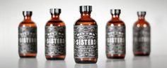 bitter sisters bitters packaging design