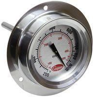 2225-20 Flange Mount Pizza Oven Thermometer with Dual Scale - Tech Instrumentation