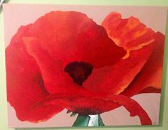 Made this passion red poppy flower for a friend! He said he wanted a big red flower...