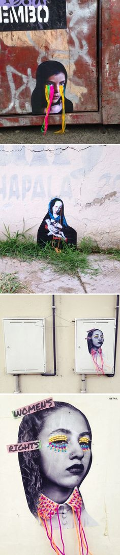 embroidery + street art = <3 work by victoria villasana