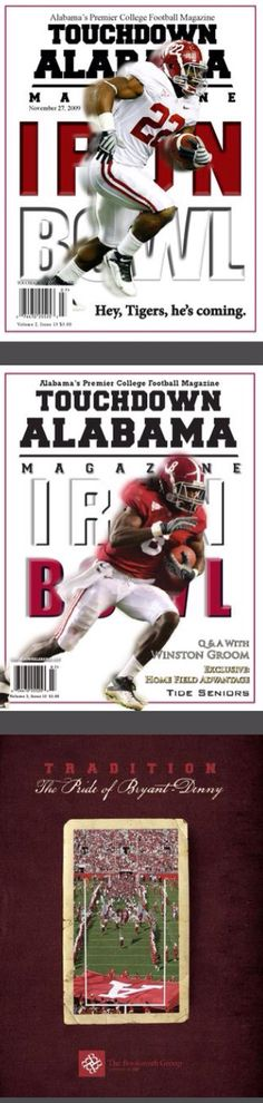 Alabama Crimson Tide magazine covers - featuring Julio Jones and Mark Ingram  #Alabama #RollTide #BuiltByBama #Bama #BamaNation #CrimsonTide #RTR #Tide #RammerJammer