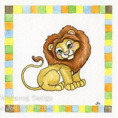 Nursery art print lion baby's room art print 6 x by Wishsongdesign, $10.00