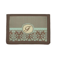 Vintage Pastel Green and Cream F.jpg Wallets