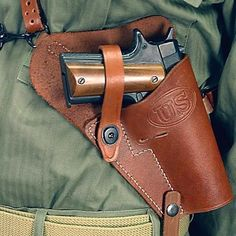 US WWII M7 Leather Shoulder Holster