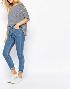 Image 1 - Monki - Jean skinny à taille haute