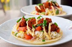 general Tso's chicken tacos