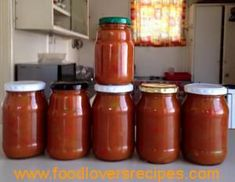 KERRIE TAMATIE BLADJANG Fun Desserts, Dessert Recipes, Home Canning Recipes, Pickled Eggs, South African Recipes, Chutney Recipes, Hot Sauce Bottles, Kos, Food And Drink