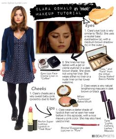 Clara Oswald Makeup. I have that exact eyeshadow palette, so yay!