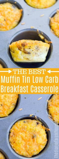 Muffin Tin Low Carb Breakfast Casserole Muffin Tin Low Carb Breakfast Casserole These muffin tin egg casserole is PERFECT for breakfast. It even is a great freezer breakfast recipe. Muffin Tin Breakfast, Breakfast Casserole Muffins, Eggs In Muffin Tin, Quick Keto Breakfast, Sausage Breakfast, Best Breakfast, Breakfast Recipes, Low Card Breakfast Ideas, Muffin Tin Recipes