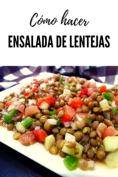 How to make lentil salad Salad Dressing Recipes, Salad Recipes, Salada Light, Healthy Cooking, Healthy Eating, Vegetarian Recipes, Healthy Recipes, Evening Meals, Side Recipes