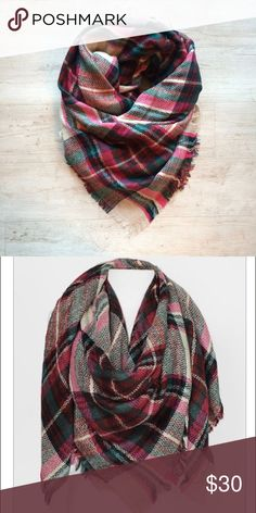 🆕Pink Tartan Blanket Scarf Ladies, it's finally time to bust out your blanket scarves! Fall is definitely in the air. 🍂 😊 Stock up on this season's must have blanket scarves. Bundle up in this cozy fuchsia pink, green, yellow, green, red & plaid scarf. 100% acrylic. Get yours now before they are gone! 🔥🍁☕️ Accessories Scarves & Wraps