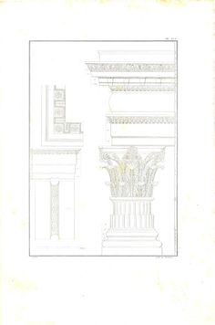 1842 Baths of Agrippa Roman Thermae Floor Plan by