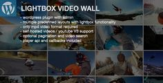 Lightbox Video Wall Wordpress Plugin by Tean Lightbox Video Wall is a thumbnail gallery with optional video playback on thumbnail rollover and lightbox functionality. Supported are self hosted videos and Youtube. Options:Multiple predefiend layouts (clear, zoom, tooltip, ico
