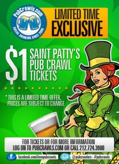 Saint Pattys Pub Crawl Info, Tickets, Photos and more