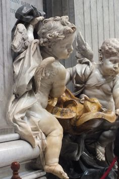 Cherubs in the Vatican Bernini Sculpture, Baroque Sculpture, Greek Statues, Angel Statues, Desenho Tattoo, Angels Among Us, Angel Art, Art Inspo, Art History