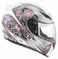 Agv Womens K3 Crew Full Face Race Street Motorcycle Helmet White ...