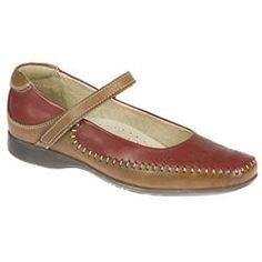 Fly Flot Female Hannah Leather Upper Leather Lining Comfort Small Sizes in Black, Navy-Beige, Red - Tan FLY FLOT SHOES - Very soft leather inside and out. One touch strap across the top of the foot for great adjustability