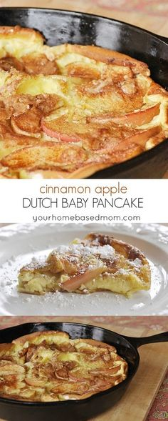 Cinnamon Apple Dutch Baby Pancake is a delicious flavor twist on the traditional dutch baby pancake.