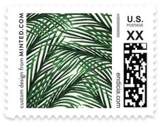 """""""Tropical Love"""" - Wedding Stamps in Gold by Elly."""