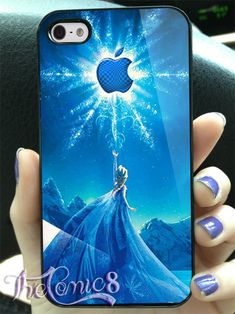 Disney frozen elsa with magic apple logo MJ7 Design by TheComic8, $14.90