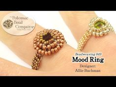"""Make a """" Mood Ring """" - YouTube, all supplies from www.PotomacBeads.com"""