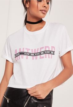 Miss Guided - go for grunge vibes in this white cropped t-shirt £12