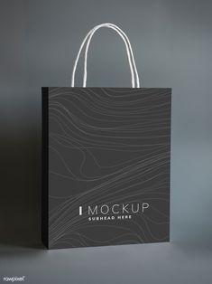 Download premium psd / image of Black paper bag design mockup about mockup bag, paper bag, package, black shopping bag mockup, and shopping bag mockups 502824