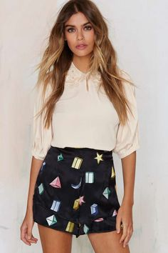 Samantha Pleet Strata Silk Shorts | Shop Clothes at Nasty Gal!
