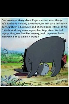 Eeyore, Depression and support