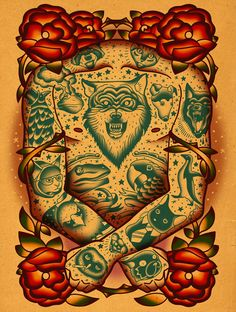 * Artwork by Dave Quiggle * Follow my #traditional #tattoos board! www.eff-style.com