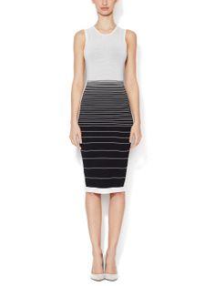 Silk Striped Sheath Dress by Narciso Rodriguez at Gilt