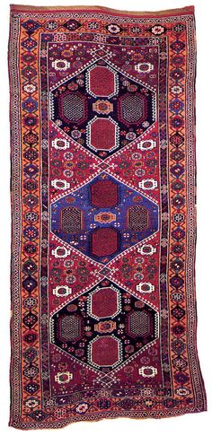Eastern Anatolia Rug, 2nd half of the 19th century SIZE: 127 x 55 1/2 in. (322.6 x 141 cm.) New England Rug Society