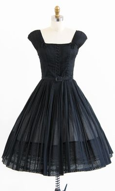 1950's Dress with Pin tuck Bodice