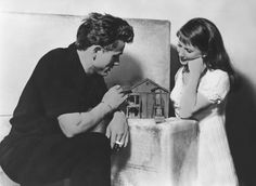 Julie Harris and James Dean in a promotional shoot for East of Eden