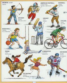 #1351 Parole Inglesi Per Piccoli e Grandi - #Illustrated #dictionary - #sports 1
