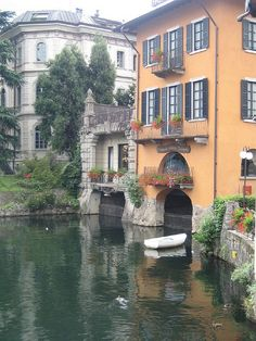 Como, Italy. Imagine jumping off your balcony into a river!
