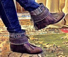 Boho Fringe Boots.  Cowboy Boots.  Emonk Ibiza Boots.  Wildflower.  Long Island, NY.