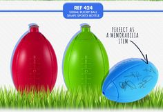 Rugby Shape Sports Bottle 500ml. REF 424 MINIMUM ORDER: 250. Optional Branding available. Water Bottles, Rugby, Branding, Plastic, Shapes, Metal, Sports, Hs Sports, Brand Management