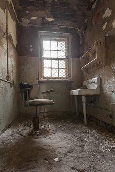Old barber shop, abandoned hospital, NJ by stevenbley