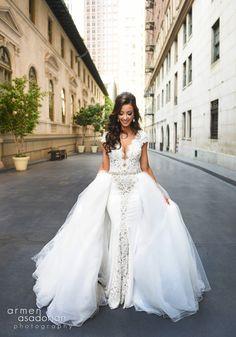 Beyond gorgeous #BERTA bride Jennifer ♥ Photography by:  Armen Asadorian Photography