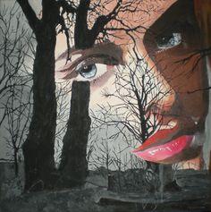 JAHRESZEITEN-ZYKLUS - HERBSTFRAU/Acryl auf Leinwand/60 x 60cm Spirited Art, Painting, Seasons Of The Year, Canvas, Autumn, Painting Art, Paintings, Painted Canvas, Drawings