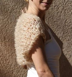 Ortia  Luxuriously Soft Beige Taupe Shrug By by evabellaboutique